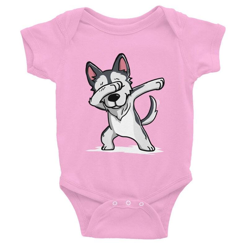 Alaskan Malamute Dog Baby Clothes Dabbing Siberian Husky Baby Bodysuit