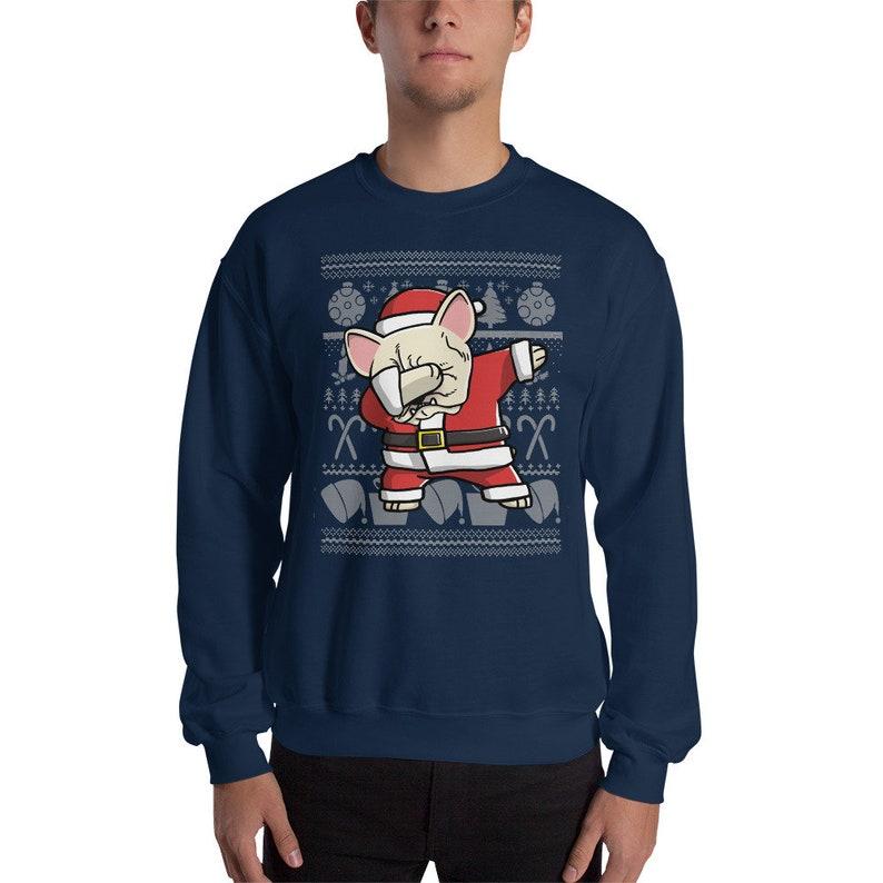 62483c4b8 Cream French Bulldog Dabbing Ugly Christmas Sweater Funny