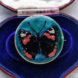 Antique Arts /& Crafts Minton Hollins Astra Astraware blue lilac pink ceramic art pottery brooch