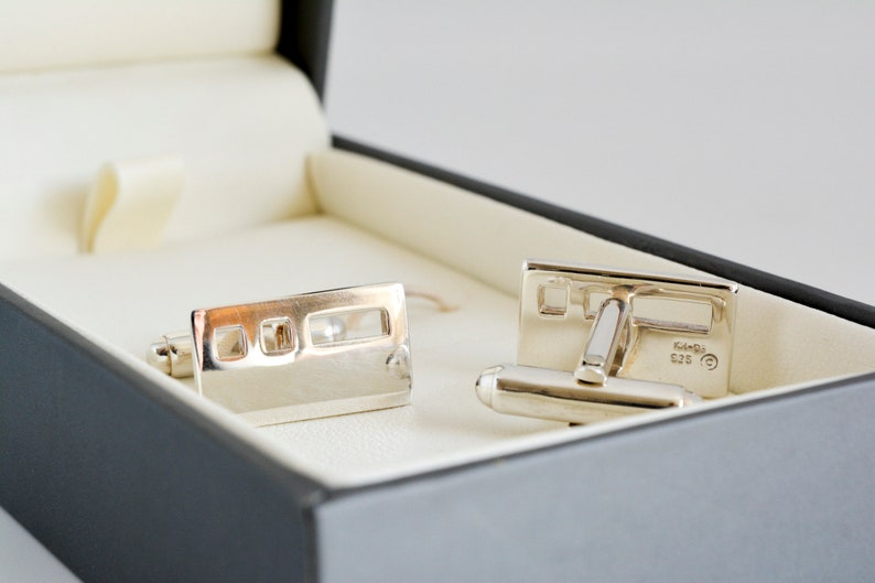 Vintage Kit Heath Solid Silver Cuff links 1990/'s Mens Accessories.
