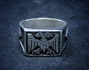 Two-headed Vulture ring