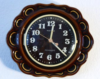 Vintage Kienzle Kitchen Clock Chronoquartz ceramic