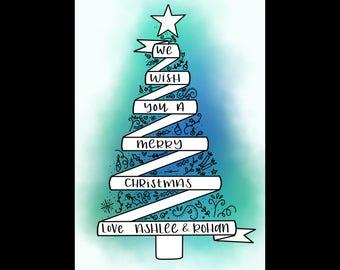 Christmas Tree Tags - calligraphy