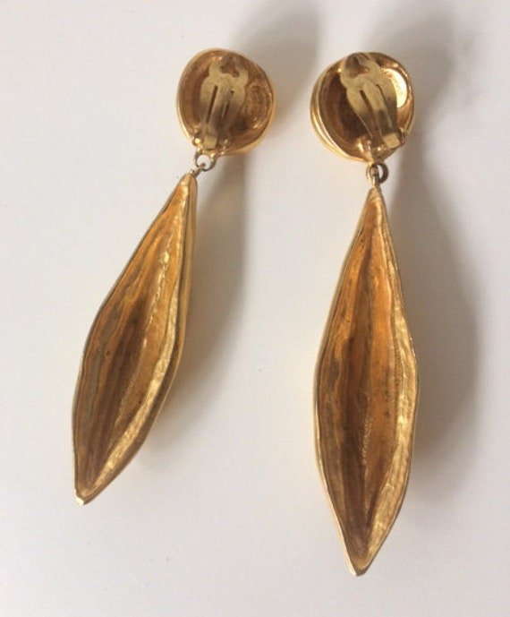 LANVIN vintage SUBLIMES earrings clip on French e… - image 6