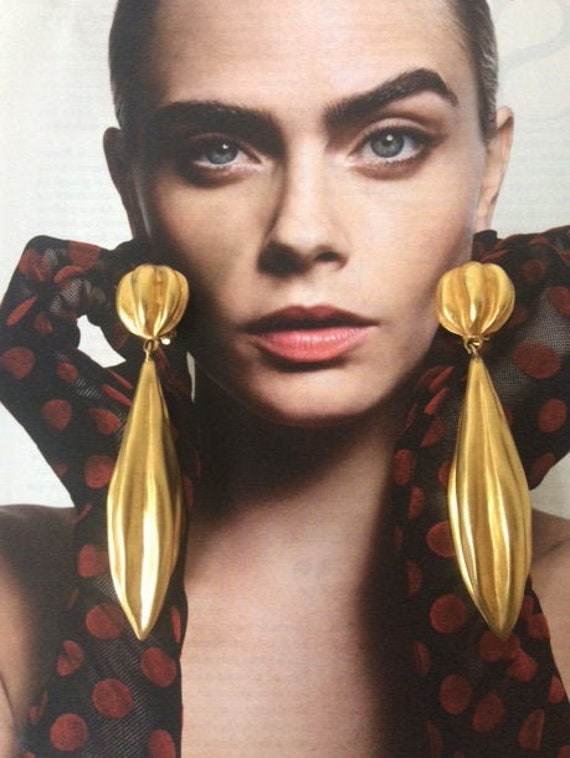 LANVIN vintage SUBLIMES earrings clip on French e… - image 1