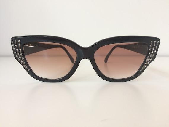 Vintage sunglasses CARITA french paste rhinestone