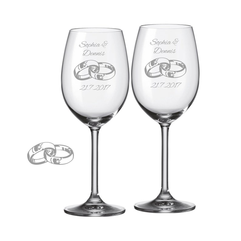 laser-diele 2 Leonardo Sektgläser mit personalisierter Gravur I Love You Braut/Bräutigam mit Name und Datum graviert Hochzeit Geschenk Gläser