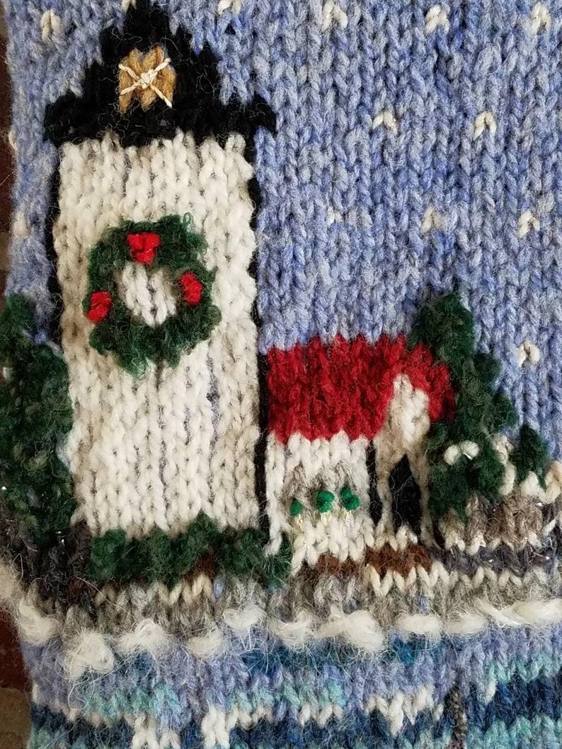 Hand knitted Christmas Stocking Maine Coast Christmas