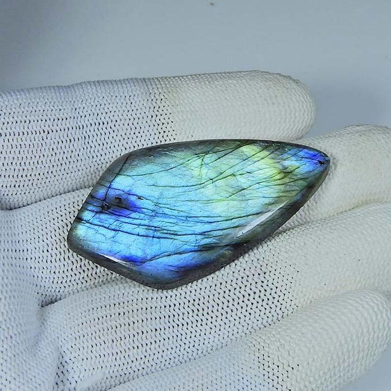 65 Cts Top Designer Natural Blue Labradorite Cabochon Loose Gemstone Fine Hand Polishing Multi Labradorite Gemstone for Pendant  MI04-208