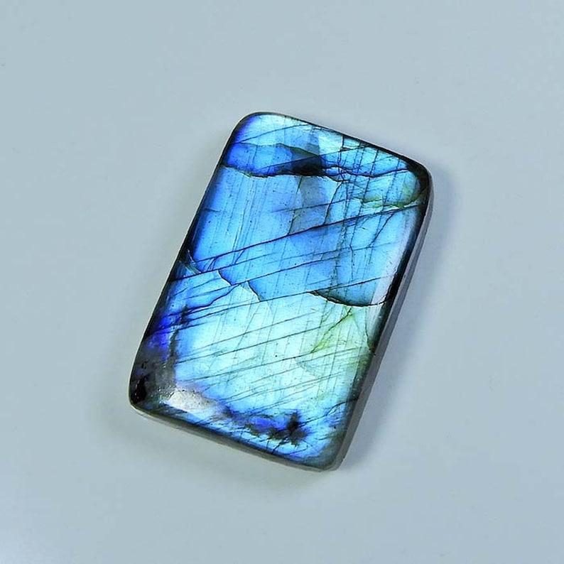 AAA Quality Natural Blue Flash Labradorite Cabochons Glorious Labradorite Gemstone Fine Polishing Loose stone for jewellery 74 Cts MI04-189