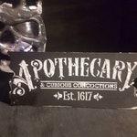 Apothecary sign, gothic wall decor, gothic decor