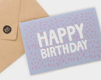 Happy Birthday Card | Birthday Cards | Greeting Cards | Handmade Cards | Friendship Card | Gift Card | Hand Lettering