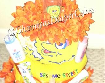 Big Bird (Sesame Street) Diaper Cake