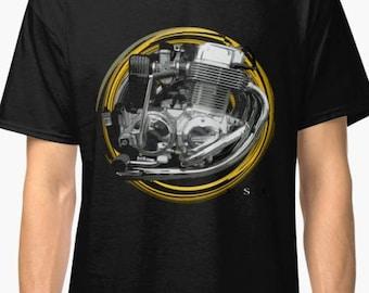 Honda CB750F inspired Motorcycle engine T-Shirt No51 INISHED Productions