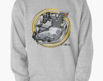 Moteur BSA Rocket3 Vintage Moto Sweat INISHED Productions 1c2f2073537
