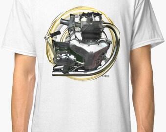 BSA A7 - vintage moteur A10 moto rétro T - Shirt No88 INISHED Productions cca40061d9a