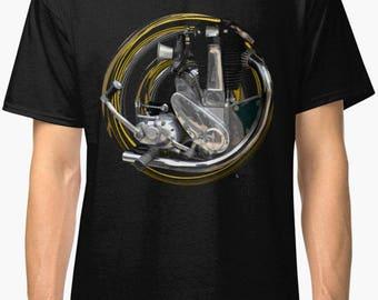 Vintage moteur BSA B31 B33 moto classique rétro T-Shirt No87 INISHED  Productions 2a6b413bcee