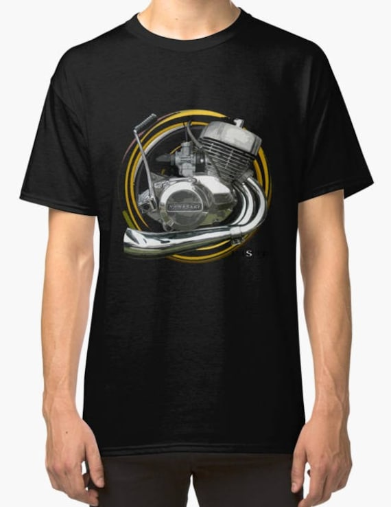 Kawasaki H2 750 inspired vintage motorcycle classic bike shirt tshirt