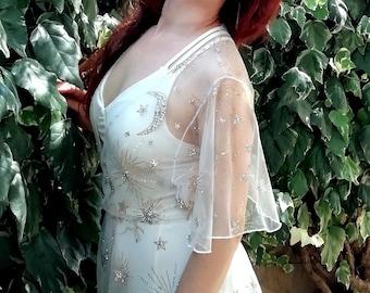 Stars tulle dress, Celestial dress/robe
