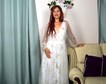 NEW! Stars wedding dress, Celestial dress/robe