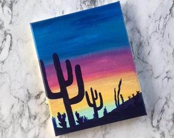 Desert Sunset Canvas - AmandaRoseMakes