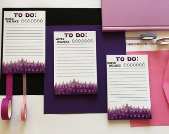 """To do list (notepad) """"Violet forest"""""""