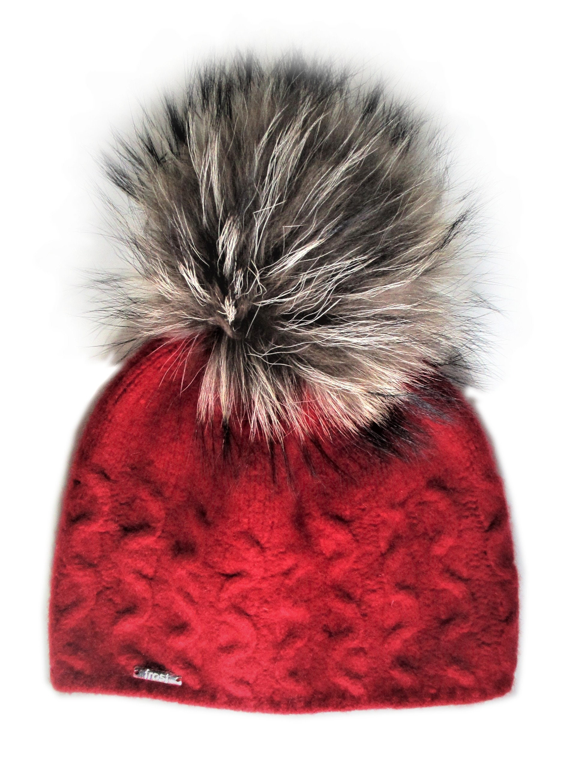 Frost Hats Cashmere Cable Knit Hat with Detachable Genuine  cef6a4b6e