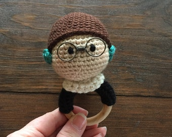 Ruth Bader Ginsburg Doll Rattle/Hand Toy/Teething Ring
