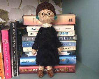 Crochet Ruth Bader Ginsburg Doll