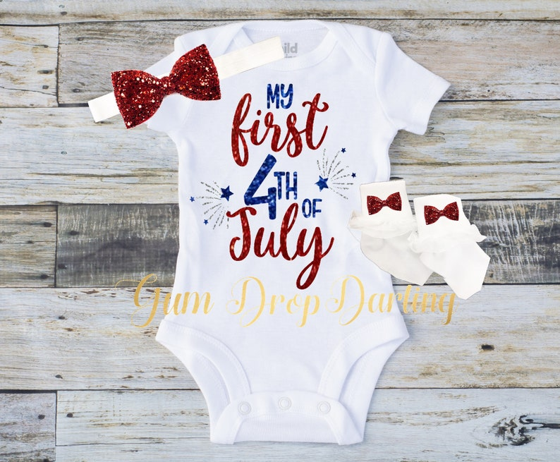 ab356533f First 4th of July Baby's First 4th baby 4th of July | Etsy