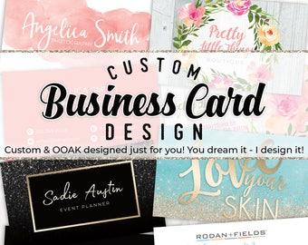 Business cards etsy custom business card design personalized business card custom graphic design photography business card reheart Choice Image