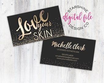 Esthetician Business Cards Etsy