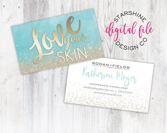 Rodan + Fields Business Card, Personalized Business Card, Independent Consultant Card, Custom Rodan and Fields Business Card Digital File