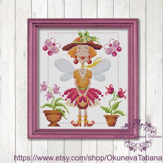 PDF Cross Stitch Fairy Cross Stitch Pattern Digital Cross Stitch Instant Cross Stitch