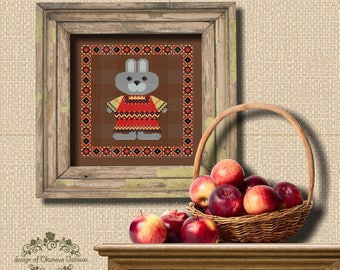 Bunny Cross Stitch Pattern, Instant Download PDF, Cross Stitch Pattern, Digital Download, Instant Download PDF