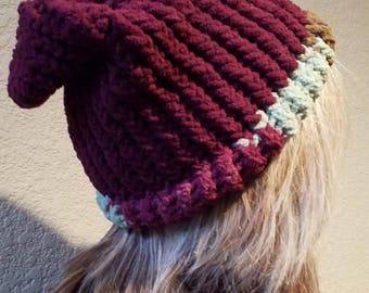 Knit Hat - Slouchy hat - Knit beanie - Women's hat