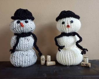 Knit snowman - Winter decor