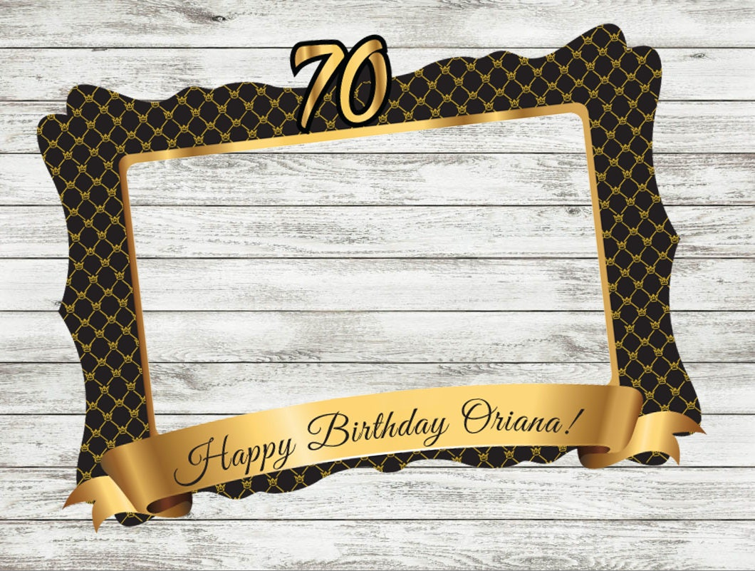 70-80-90 th Geburtstag Rahmen Erwachsene Geburtstagsfeier | Etsy