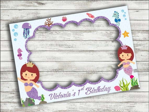 Mermaid Baby Shower Frame Custom Order Birthday Party Photo Booth