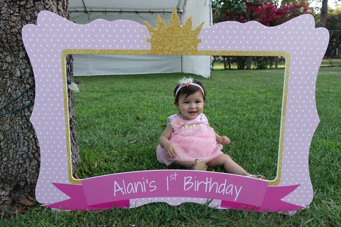 Princess Birthday Frame, First Birthday Party, Photo Booth Frame ...