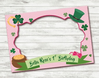PRINTABLE 1st Birthday photo booth frame, St Patrick day photo booth frame, Photo Booth Frame, First Birthday Photo booth, Frame
