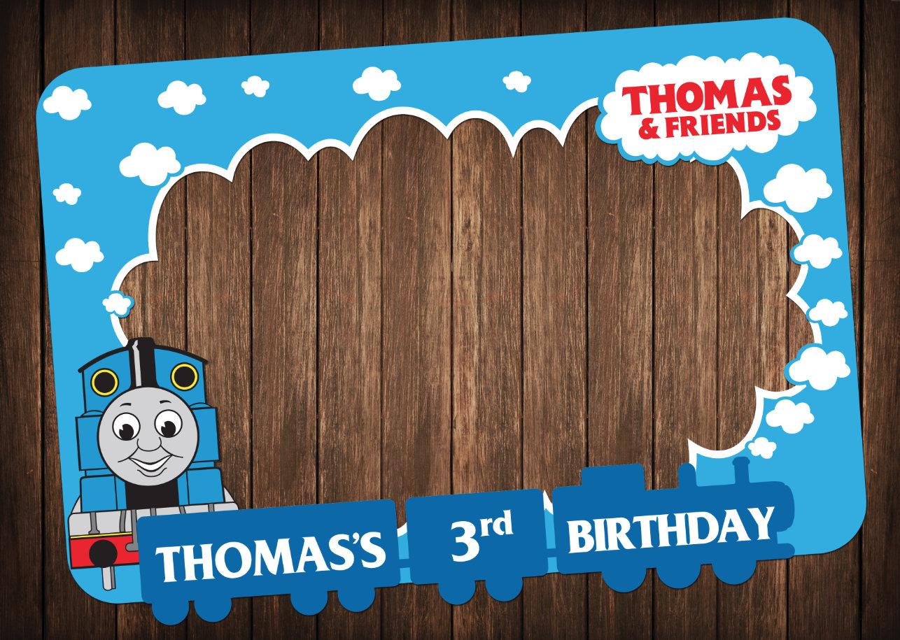 DRUCKBARE Thomas der Zug Stand Bilderrahmen Thomas Geburtstag | Etsy