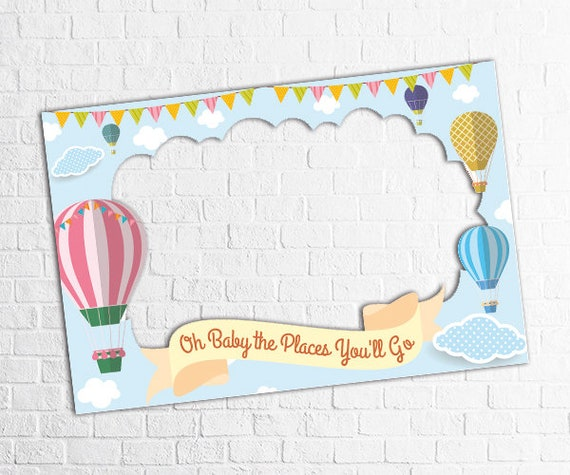 Hot Balloon Baby Shower Frame Hot Balloon Birthday Party Photo