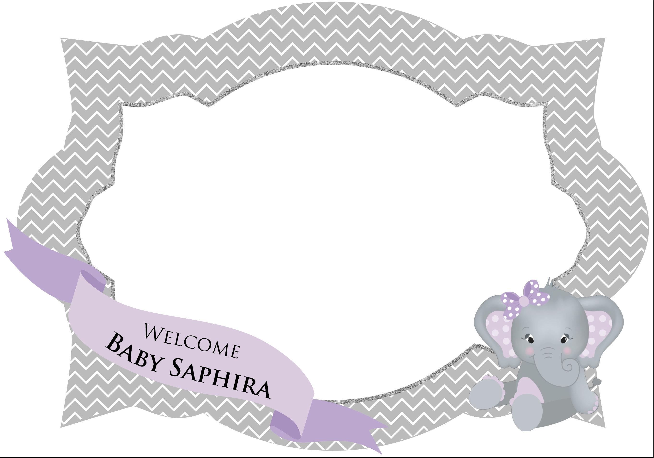Lavendel Elefant Foto Prop Rahmen Elefant Stand Bilderrahmen   Etsy