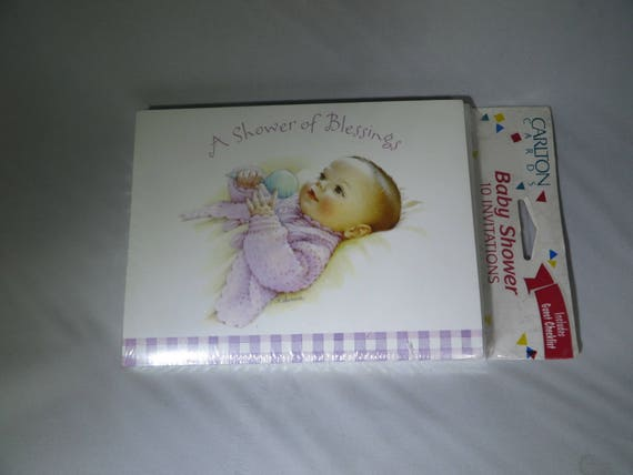 Vintage baby shower invitations american greetings carlton etsy image 0 m4hsunfo