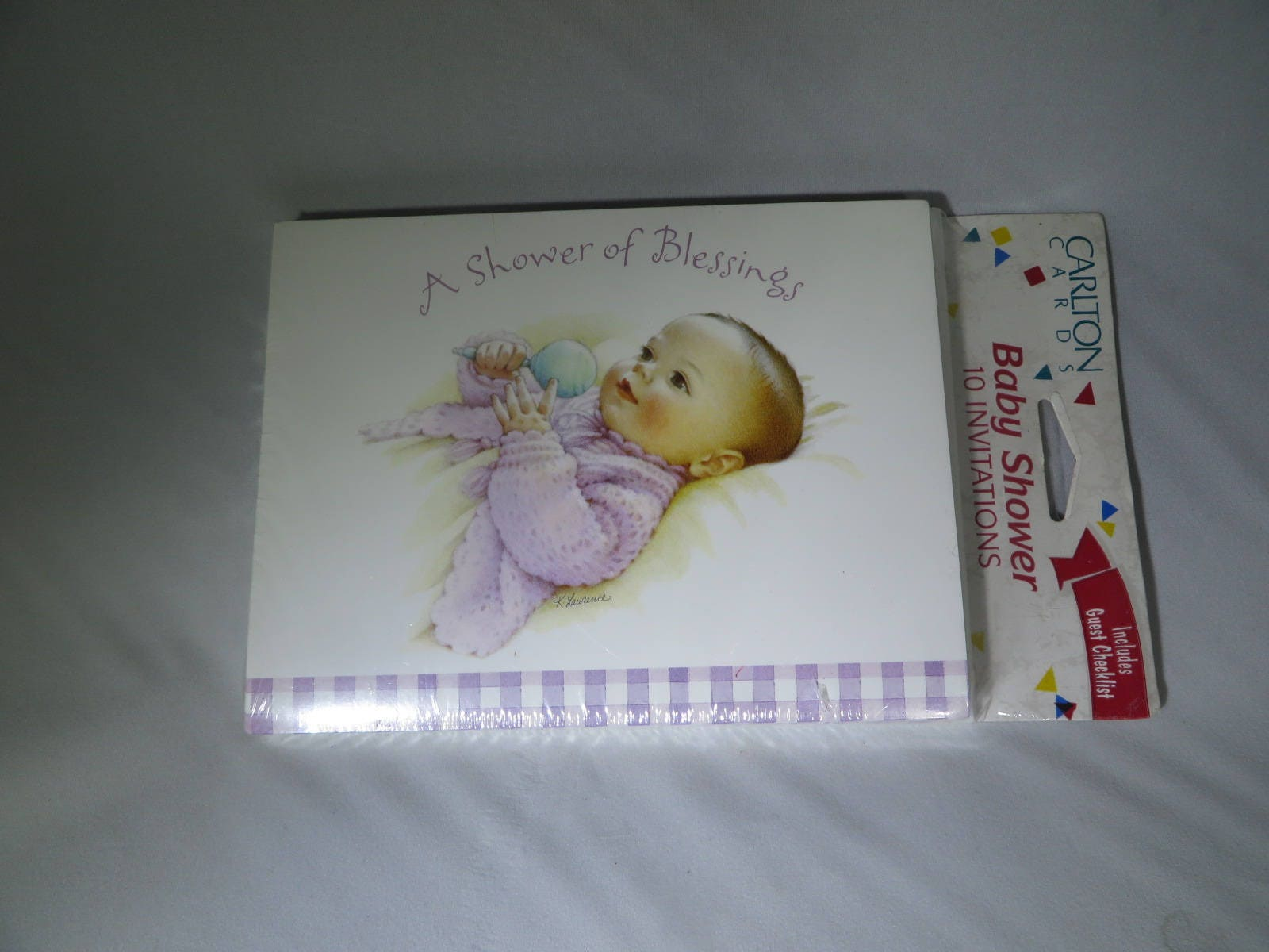 Vintage Baby Shower Invitations American Greetings Carlton Etsy