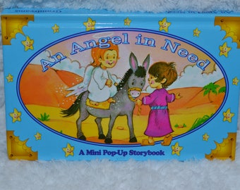 Vintage 90s Book An Angel In Need Mini Pop Up Storybook Hard Cover 1998 Childrens Book Grandreams Limited
