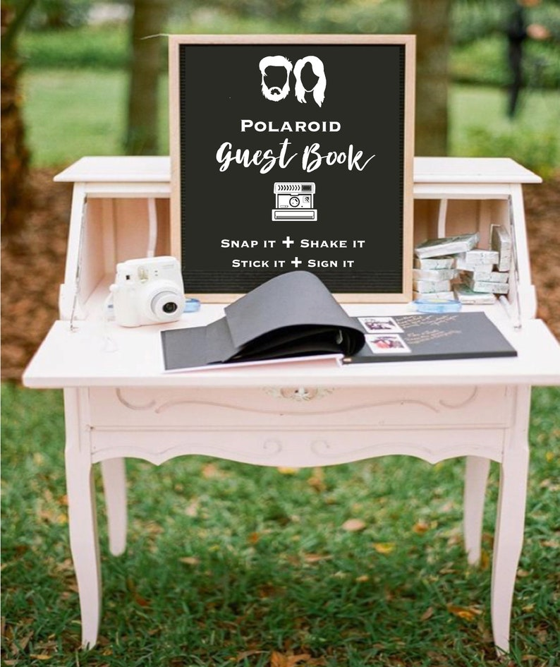 Photo Guest book Sign Wedding Photo Guestbook Sign Photo image 4