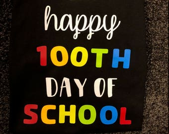 Personalized 100th day of school shirt, multi-color, teachers, teacher gift, teacher shirt, 100th day