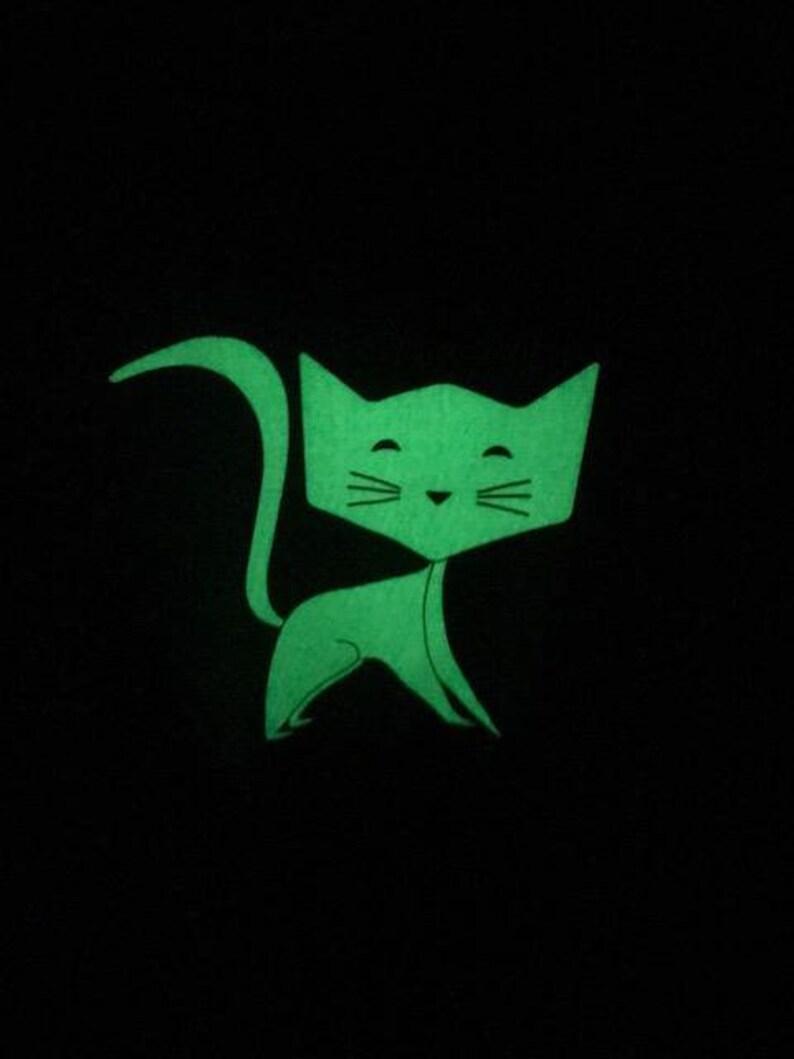 Crazy Cat shirt Cute T-shirt Cat Lover T-shirt Glow In The Dark Children Kids Glow In The Dark T-shirt Pink. kids Cat T-shirt